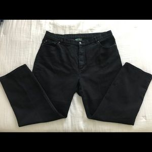 Ralph Lauren Jean Co. relaxed fit black jeans